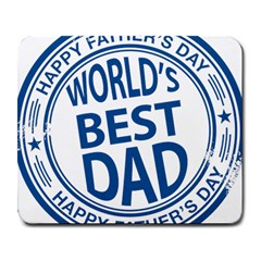 Fathers Day Rubber Stamp Effect Large Mouse Pad (rectangle) by Zandiepants