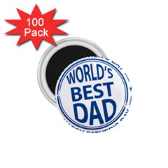 Fathers Day Rubber Stamp Effect 1 75  Button Magnet (100 Pack) by Zandiepants