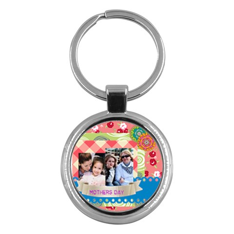 Mothers Day By Mom   Key Chain (round)   Dn05081q2vcj   Www Artscow Com Front