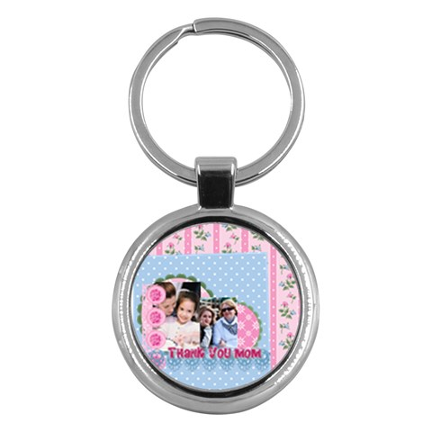 Mothers Day By Mom   Key Chain (round)   Sscpryeu9g40   Www Artscow Com Front