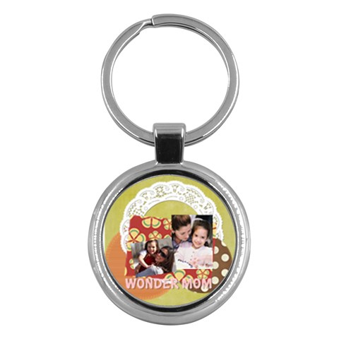 Mothers Day By Mom   Key Chain (round)   V858jkdbwa58   Www Artscow Com Front