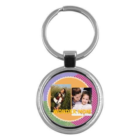 Mothers Day By Mom   Key Chain (round)   H5kz3a64wv74   Www Artscow Com Front