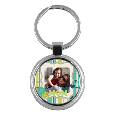 Mothers Day By Mom   Key Chain (round)   4h77m5ym4g7c   Www Artscow Com Front