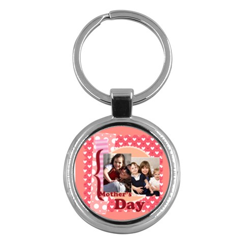 Mothers Day By Mom   Key Chain (round)   Vgdgmybbmnct   Www Artscow Com Front