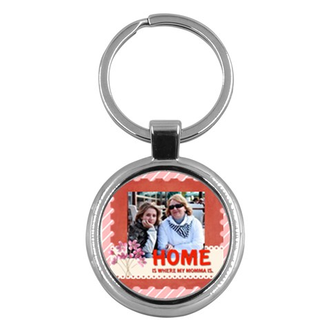 Mothers Day By Mom   Key Chain (round)   P8fixn7d11d8   Www Artscow Com Front