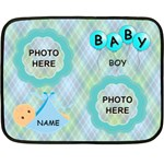 Baby Boy mini blanket. one side - Fleece Blanket (Mini)
