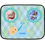 Baby Boy mini blanket, 2 sides #4 - Double Sided Fleece Blanket (Mini)