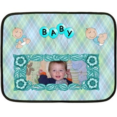 Baby Boy Mini Blanket, 2 Sides #4 By Joy Johns   Double Sided Fleece Blanket (mini)   Hn36obl4ofsp   Www Artscow Com 35 x27 Blanket Back