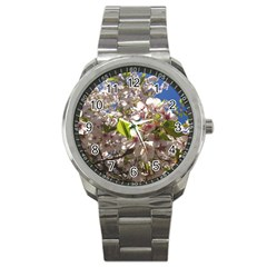 Cherry Blossoms Sport Metal Watch by DmitrysTravels