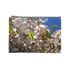 Cherry Blossoms Cosmetic Bag (large) by DmitrysTravels
