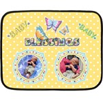 Twins Baby blanket, 2 sides #4 - Double Sided Fleece Blanket (Mini)