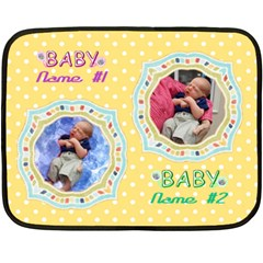 Twins Baby Blanket, 2 Sides #4 By Joy Johns   Double Sided Fleece Blanket (mini)   0eyoowayxmo2   Www Artscow Com 35 x27 Blanket Back