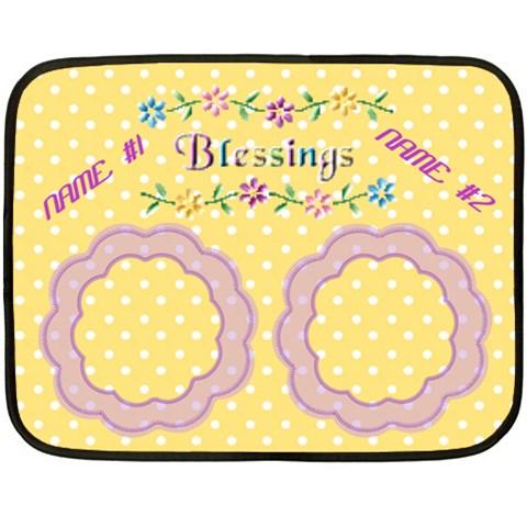 Baby Twins Mini Blanket  One Side By Joy Johns   Fleece Blanket (mini)   Shys42jwn9gu   Www Artscow Com 35 x27 Blanket