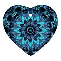 Star Connection, Abstract Cosmic Constellation Heart Ornament by DianeClancy