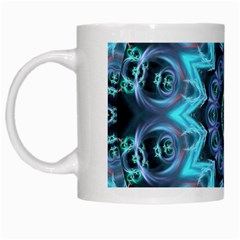 Star Connection, Abstract Cosmic Constellation White Coffee Mug by DianeClancy