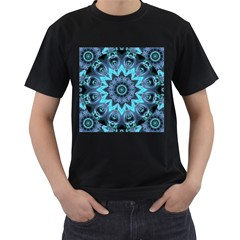 Star Connection, Abstract Cosmic Constellation Men s Two Sided T Shirt (black)
