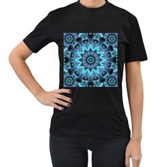 Star Connection, Abstract Cosmic Constellation Women s Two Sided T Shirt (black)