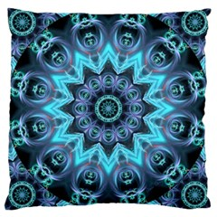 Star Connection, Abstract Cosmic Constellation Large Cushion Case (two Sided)  by DianeClancy