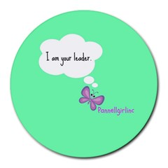 Leader 8  Mouse Pad (round)