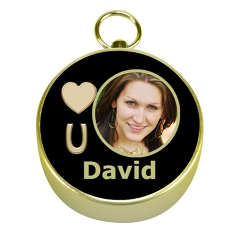 Love You Gold Compass By Deborah   Gold Compass   Szwcu4u1io2o   Www Artscow Com Front
