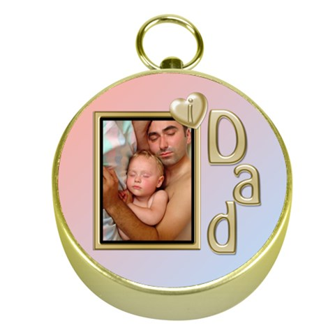 I Love Dad Gold Compass By Deborah   Gold Compass   C70w6gz9vol9   Www Artscow Com Front