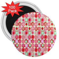 Far Out Geometrics 3  Button Magnet (100 Pack) by StuffOrSomething