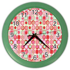 Far Out Geometrics Wall Clock (color) by StuffOrSomething
