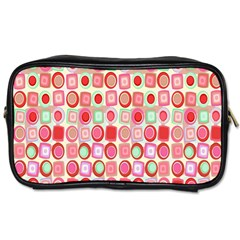 Far Out Geometrics Travel Toiletry Bag (two Sides) by StuffOrSomething
