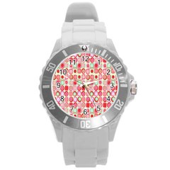 Far Out Geometrics Plastic Sport Watch (large) by StuffOrSomething