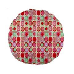 Far Out Geometrics 15  Premium Round Cushion  by StuffOrSomething