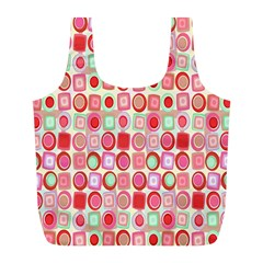 Far Out Geometrics Reusable Bag (l) by StuffOrSomething