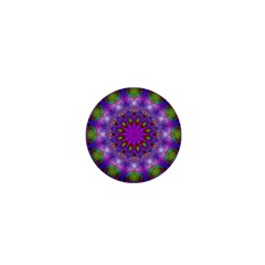 Rainbow At Dusk, Abstract Star Of Light 1  Mini Button Magnet by DianeClancy