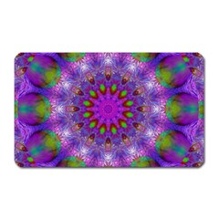 Rainbow At Dusk, Abstract Star Of Light Magnet (rectangular) by DianeClancy