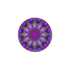Rainbow At Dusk, Abstract Star Of Light Golf Ball Marker 4 Pack by DianeClancy