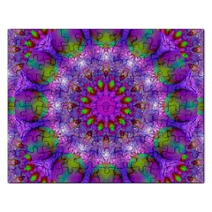Rainbow At Dusk, Abstract Star Of Light Jigsaw Puzzle (rectangle) by DianeClancy