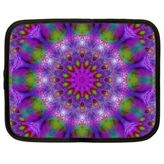Rainbow At Dusk, Abstract Star Of Light Netbook Sleeve (xl) by DianeClancy