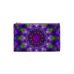 Rainbow At Dusk, Abstract Star Of Light Cosmetic Bag (small) by DianeClancy