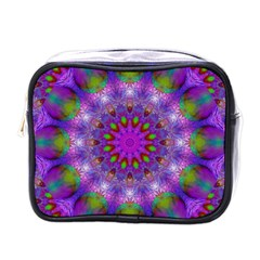 Rainbow At Dusk, Abstract Star Of Light Mini Travel Toiletry Bag (one Side) by DianeClancy