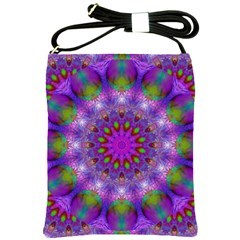 Rainbow At Dusk, Abstract Star Of Light Shoulder Sling Bag by DianeClancy