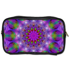 Rainbow At Dusk, Abstract Star Of Light Travel Toiletry Bag (two Sides) by DianeClancy