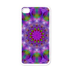 Rainbow At Dusk, Abstract Star Of Light Apple Iphone 4 Case (white) by DianeClancy
