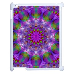 Rainbow At Dusk, Abstract Star Of Light Apple Ipad 2 Case (white) by DianeClancy