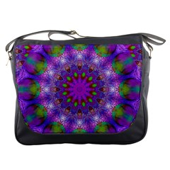 Rainbow At Dusk, Abstract Star Of Light Messenger Bag by DianeClancy