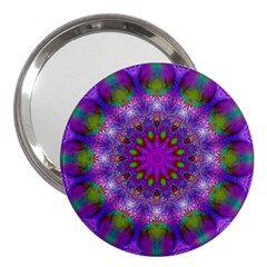 Rainbow At Dusk, Abstract Star Of Light 3  Handbag Mirror