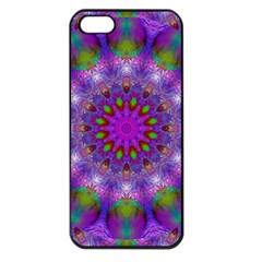 Rainbow At Dusk, Abstract Star Of Light Apple Iphone 5 Seamless Case (black) by DianeClancy