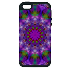 Rainbow At Dusk, Abstract Star Of Light Apple Iphone 5 Hardshell Case (pc+silicone) by DianeClancy