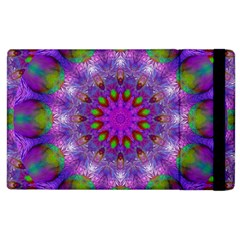 Rainbow At Dusk, Abstract Star Of Light Apple Ipad 2 Flip Case by DianeClancy