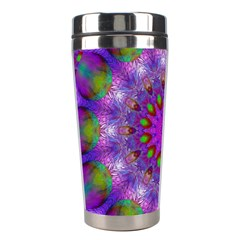 Rainbow At Dusk, Abstract Star Of Light Stainless Steel Travel Tumbler by DianeClancy