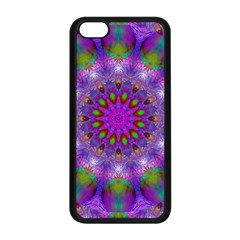 Rainbow At Dusk, Abstract Star Of Light Apple Iphone 5c Seamless Case (black) by DianeClancy
