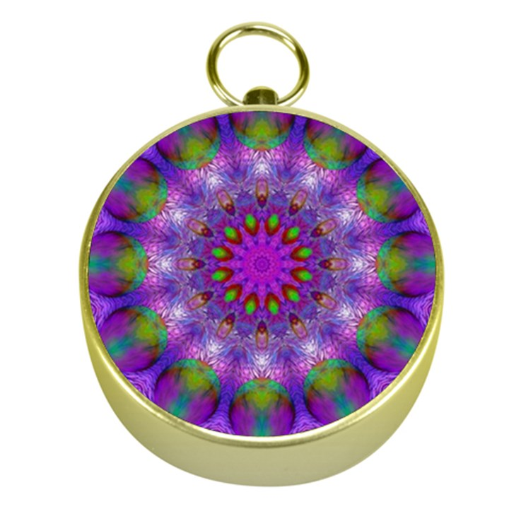 Rainbow At Dusk, Abstract Star Of Light Gold Compass